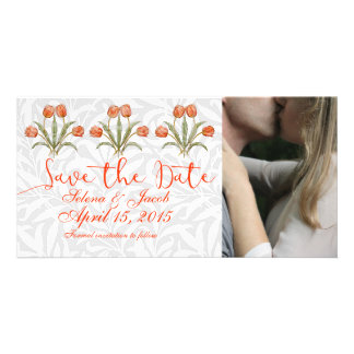 Vintage Wedding Collection Save The Date Romantic Personalised Photo Card