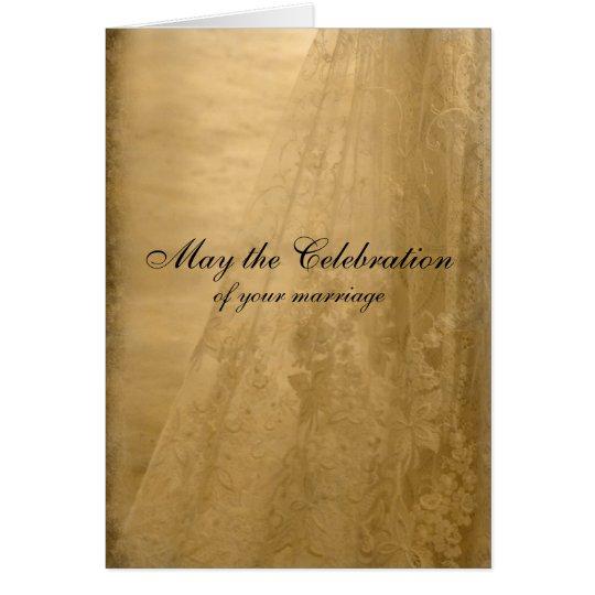 Vintage Wedding Congratulations Card