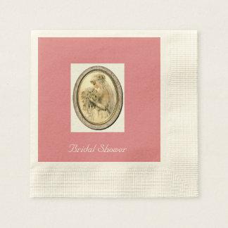 Vintage Wedding Dress Bride, Bridal Shower Napkins Paper Napkin
