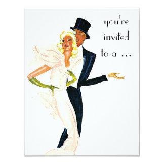 Vintage Wedding, Elegant Couple Engagement Party 11 Cm X 14 Cm Invitation Card