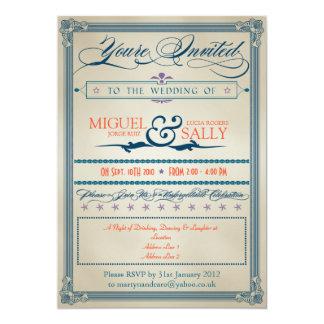 Vintage Wedding Evening-Only 13 Cm X 18 Cm Invitation Card