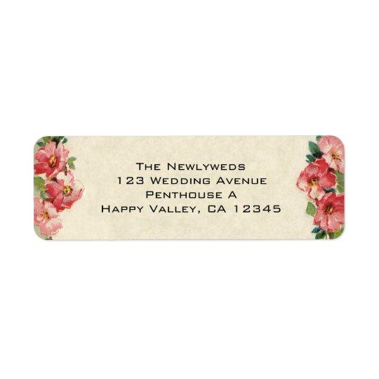 Vintage Wedding, Floral Flowers Pink Roses