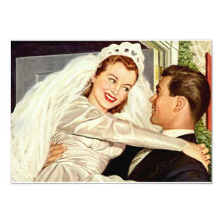 Vintage Wedding Happy Newlyweds Save the Date Card