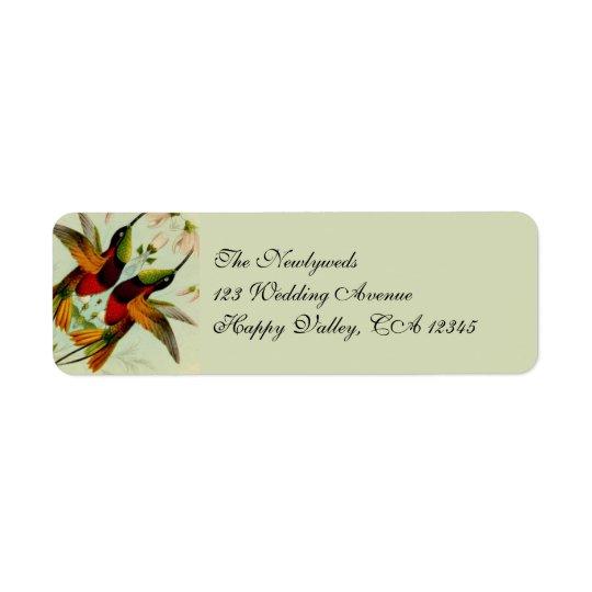 Vintage Wedding, Hummingbirds and Flowers