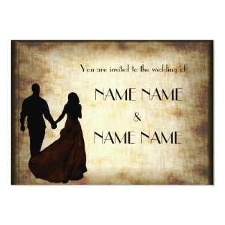 Vintage Wedding in silhouette Card