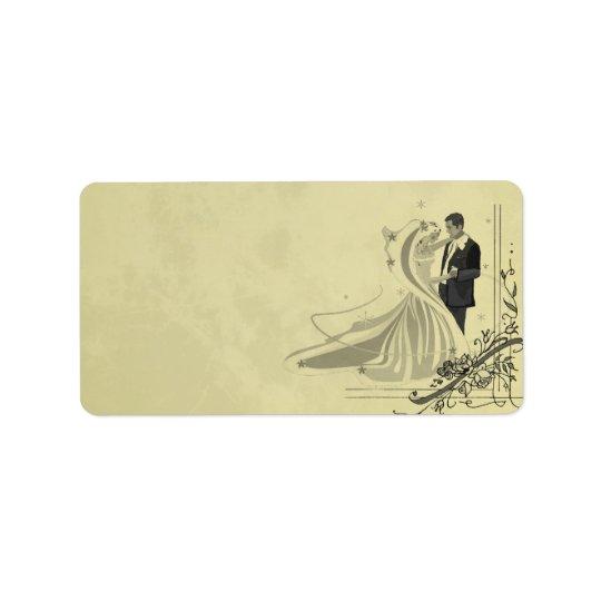 Vintage Wedding Label Address Label
