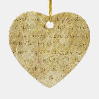 Vintage  Wedding Love is Patient Christmas Ornament