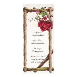 Vintage Wedding Menu Template Nature Rack Card