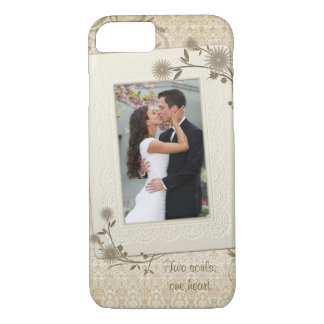 Vintage Wedding Photo Template iPhone 8/7 Case