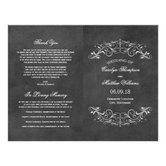 Vintage Wedding Programs | Chalkboard Flourish 21.5 Cm X 28 Cm Flyer