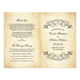 Vintage Wedding Programs | Elegant Flourish 21.5 Cm X 28 Cm Flyer