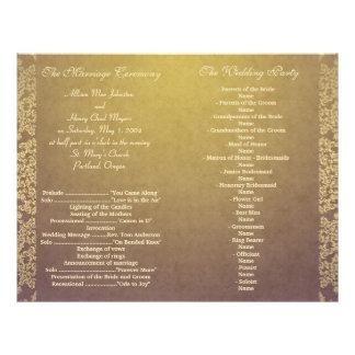 vintage wedding programs custom flyer