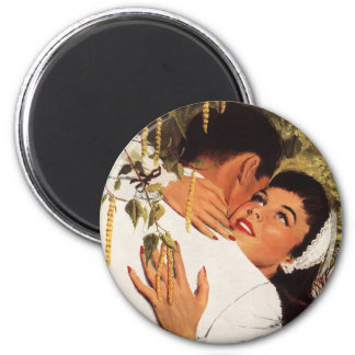 Vintage Wedding Proposal, Love and Romance 6 Cm Round Magnet