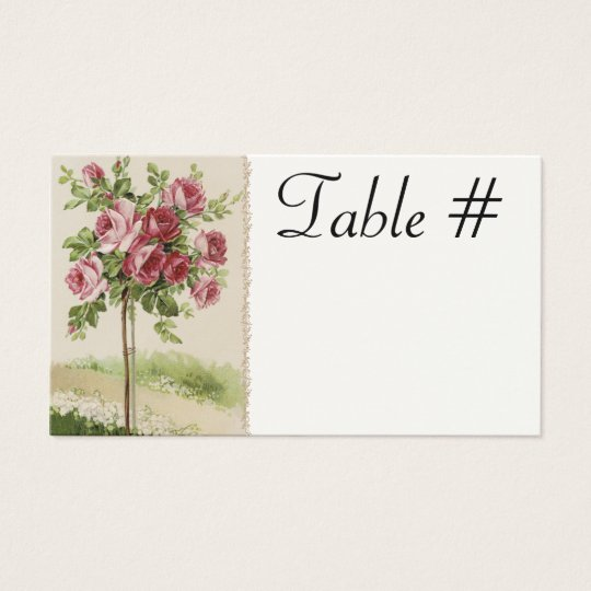 Vintage Wedding Reception Table Cards