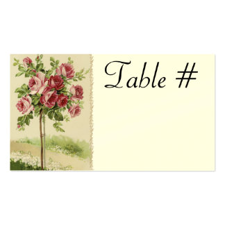 Vintage Wedding Reception Table Cards Pack Of Standard Business Cards