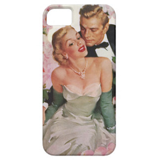 Vintage Wedding, Retro Bride and Groom Newlyweds iPhone 5 Cover