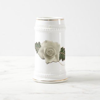Vintage Wedding Rose Beer Stein