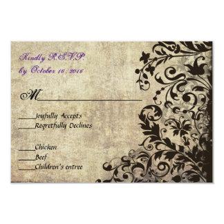 Vintage Wedding RSVP Card Invitation