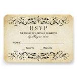 Vintage Wedding RSVP Cards | Elegant Flourish Personalised Invite