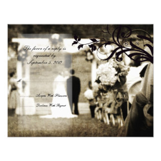 Vintage Wedding RSVP Personalized Announcement