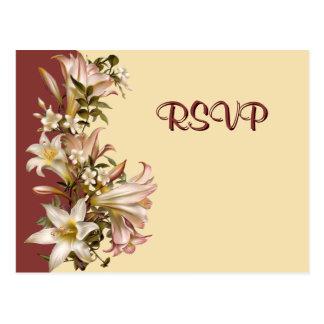 Vintage Wedding RSVP Postcard