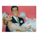 Vintage Wedding Save the Date! happy Newlyweds