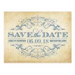 Vintage Wedding Save the Date   Swirl and Flourish