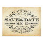 Vintage Wedding Save the Date | Swirl and Flourish Postcard
