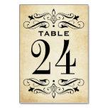 Vintage Wedding Table Cards | Elegant Flourish