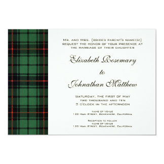 Vintage Wedding, Tartan Davidson Modern Pattern 13 Cm X 18 Cm Invitation Card