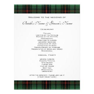 Vintage Wedding, Tartan Davidson Modern Pattern 21.5 Cm X 28 Cm Flyer