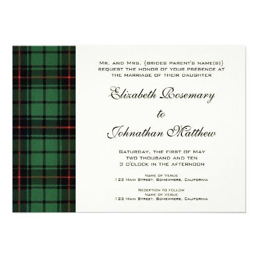 Vintage Wedding, Tartan Davidson Modern Pattern Cards