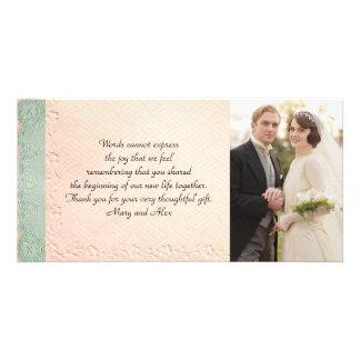 Vintage Wedding Thank You Card Photo Greeting Card