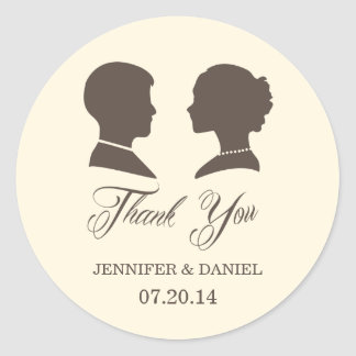 Vintage Wedding Thank You Stickers