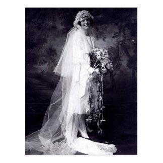 Vintage Wedding the Bride Postcard