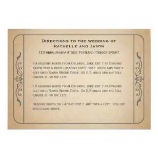 Vintage Wedding Ticket Driving Directions Card