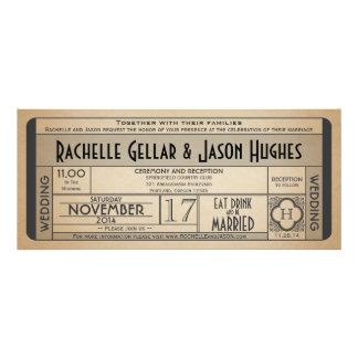Vintage Wedding Ticket IV- 40 s era 2 0 Custom Invitations