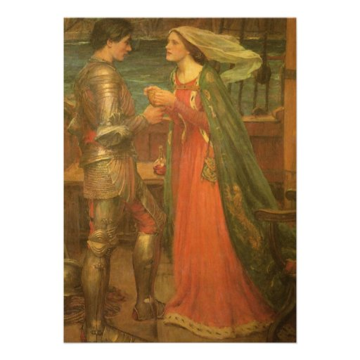 Vintage Wedding, Tristan and Isolde, Waterhouse Personalized Invitation
