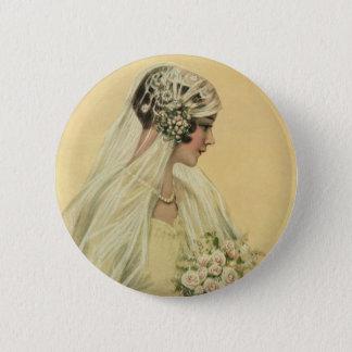 Vintage Wedding, Victorian Bride Bridal Portrait 6 Cm Round Badge