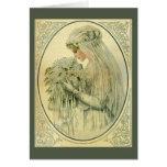 Vintage Wedding, Victorian Bride Bridal Portrait Greeting Card