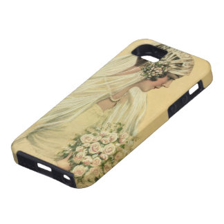 Vintage Wedding, Victorian Bride Bridal Portrait iPhone 5 Case