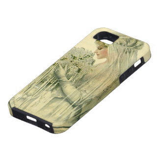 Vintage Wedding, Victorian Bride Bridal Portrait iPhone 5 Cases
