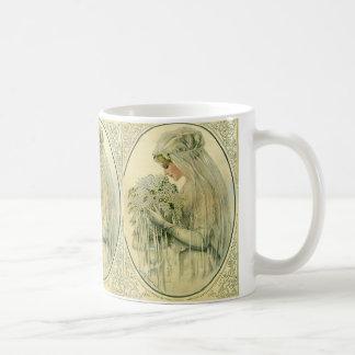 Vintage Wedding, Victorian Bride Bridal Portrait Classic White Coffee Mug