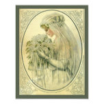 Vintage Wedding, Victorian Bride, Bridal Shower 11 Cm X 14 Cm Invitation Card