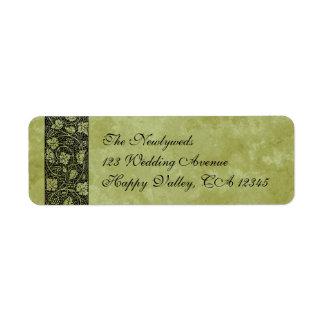 Vintage Wedding, Victorian Grape Vine Leaves