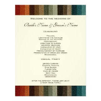 Vintage Wedding, Warm Autumn Stripes Pattern Personalized Flyer