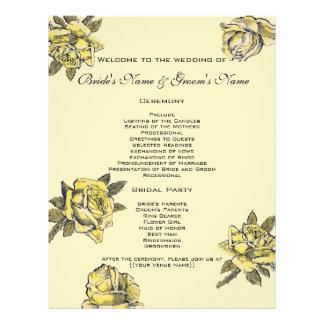 Vintage Wedding, Yellow Antique Garden Rose Wreath 21.5 Cm X 28 Cm Flyer