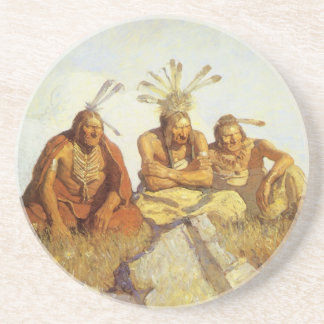 Vintage West, Guardians War or Peace by NC Wyeth Coaster