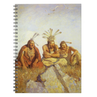 Vintage West, Guardians War or Peace by NC Wyeth Notebook