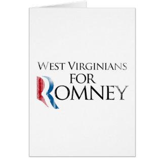 Vintage West Virginians for Romney -.png Greeting Card